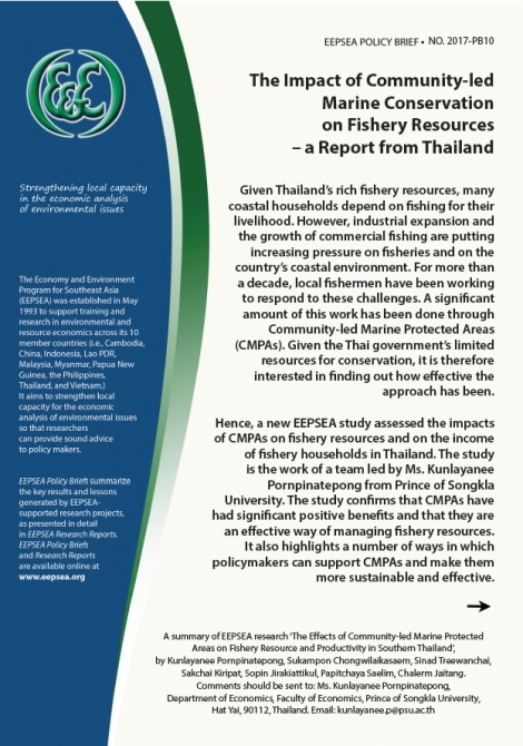 The impact of community-led marine conservation on fishery resources – a report from Thailand